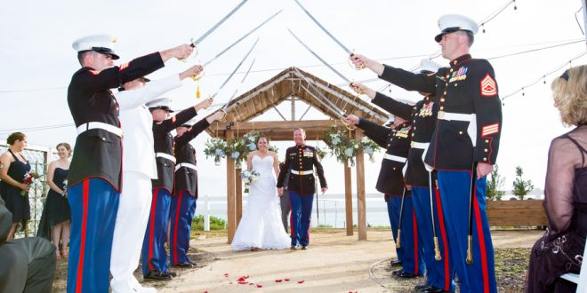 Real Weddings | Rustic Marine Corps Military Wedding   Brides