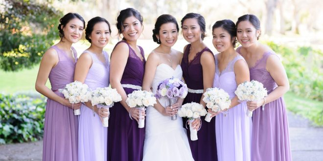 Yvonne And Alans Dreamy Purple Themed Wedding Brides Weddings