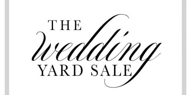 Wedding Garage Sale.The Wedding Yard Sale Brides Weddings Magazine