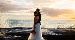 island sunset wedding